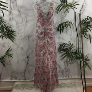 Free People Intimately Peach Floral Sheer Dress
